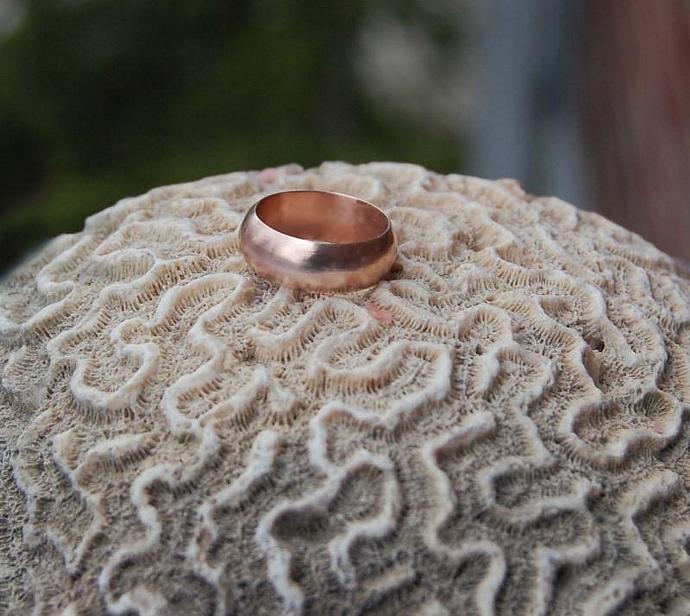 14kt Rose Gold Domed Wedding band