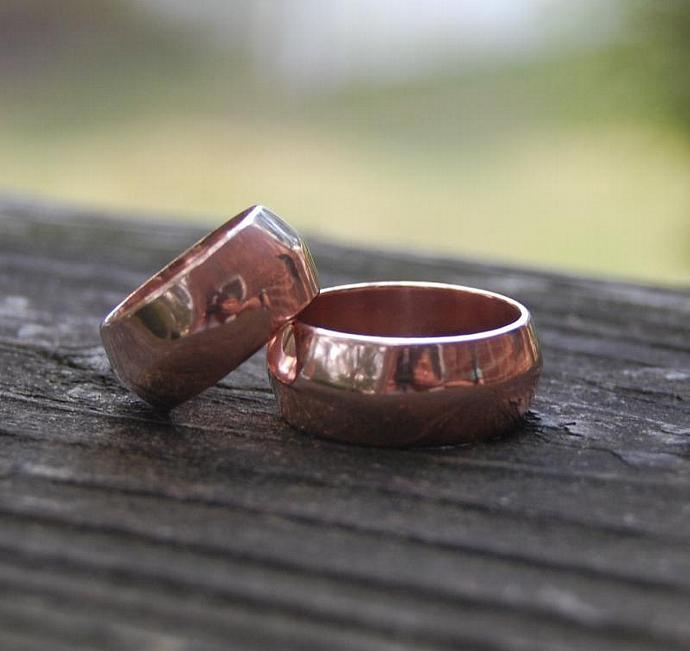 Rose Gold Dome Wedding Band