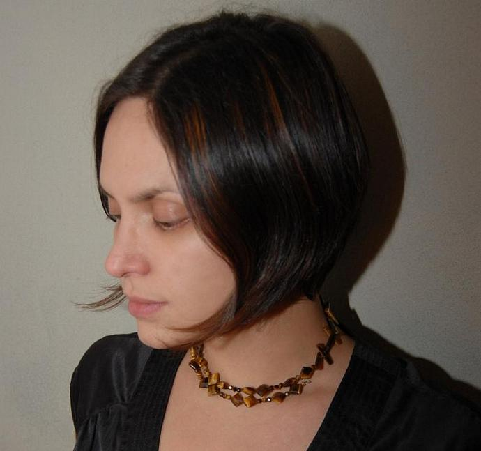 Dancing Tiger Eye Choker