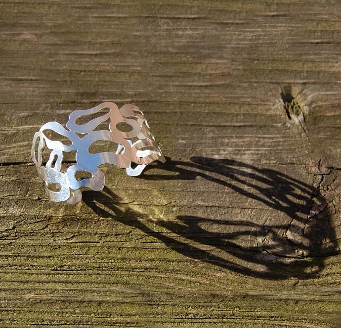 Coral Reef Sterling Silver Cuff Bracelet