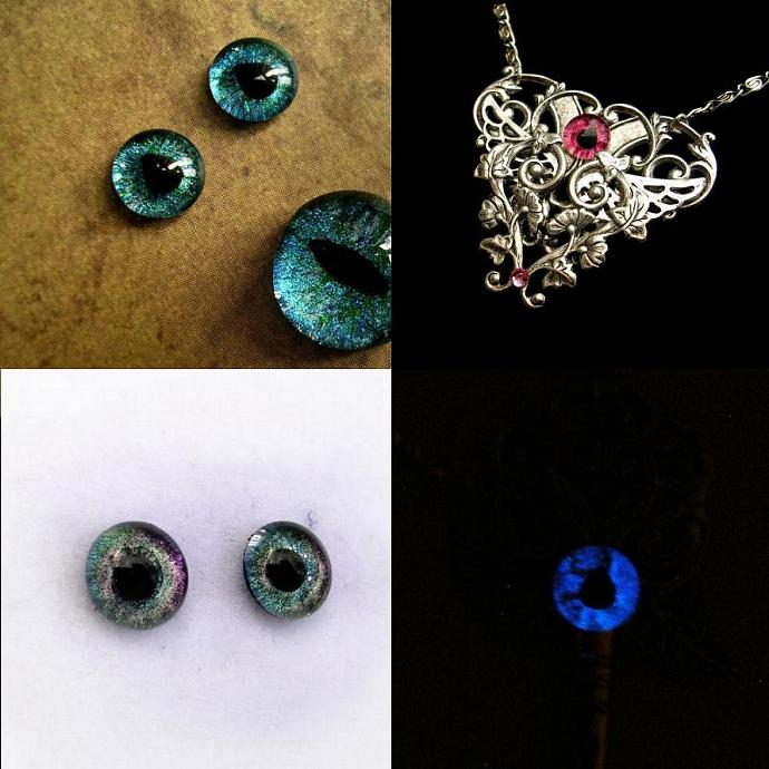 CUSTOM Just For You - 8mm SET - Evil Eye - Dragon Eye - Third Eye - Single -
