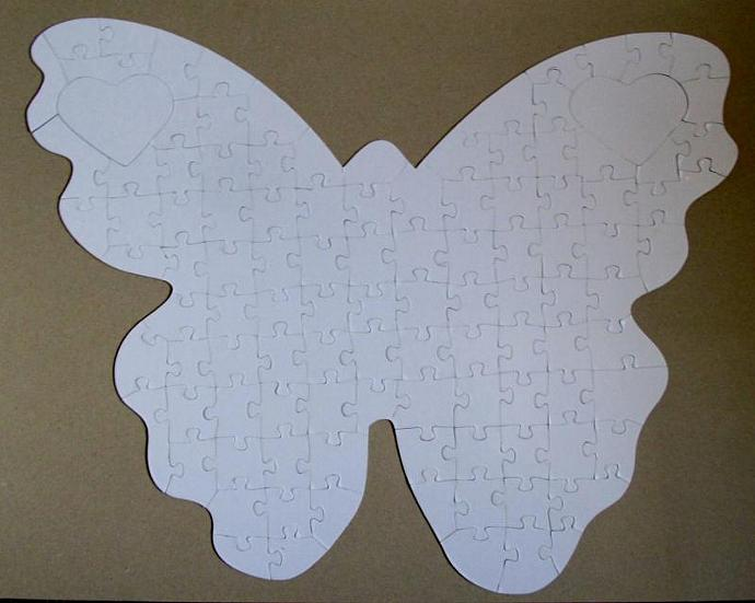 Wedding Guest Book Butterfly by TheMissingPiecePuzzleCompany on Zibbet