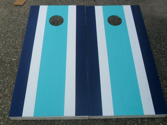 Custom Stripe Pattern ANY COLORS By Klockswoodworking On Zibbet Delectable Corn Hole Pattern