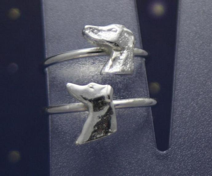 Sterling silver greyhound profile ring size 7