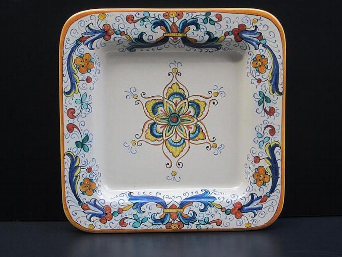 Deruta Classico Square Dinner Plate