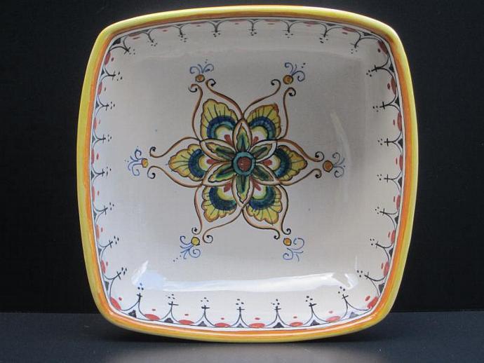 Deruta Classico Square Bowl