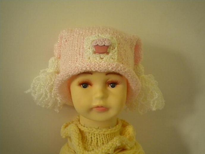 Pink Cupcake Baby Hat