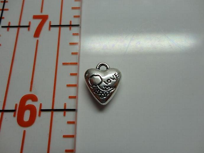Love Heart Charm - Silver