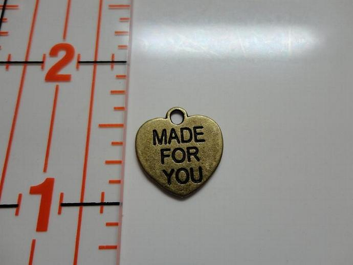 Made For You Heart Charm - Bronze