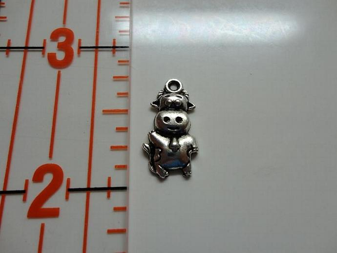 Cow Charm - Silver
