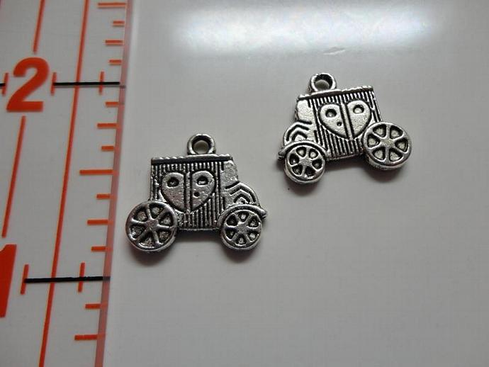 Carriage Charm - Silver