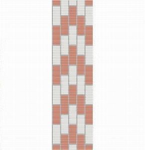 Loom Bead Pattern for Art Deco Cuff Bracelet