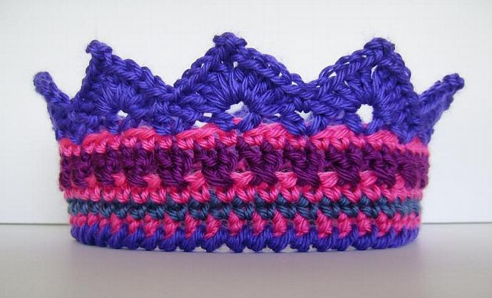 Custom Crochet Crown of Many Colors for Children