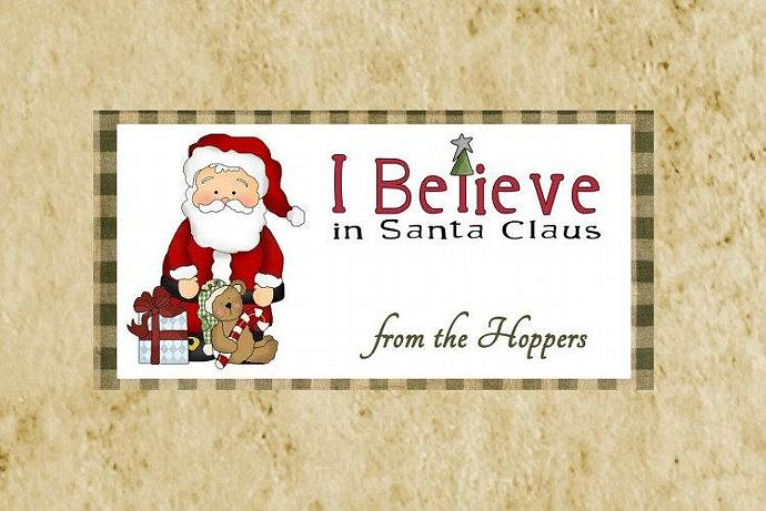 Santa Primitive Christmas Treat Bag Topper Diy Printable Santa
