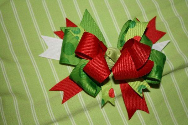 Christmas Holiday Over the top hair bow