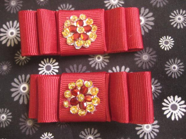 Set of Jewel Hair Clip / Hair bows