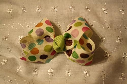 Retro Polka dot hair bow