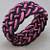 pink back turks head knot rope bracelet soft bangle armband 406