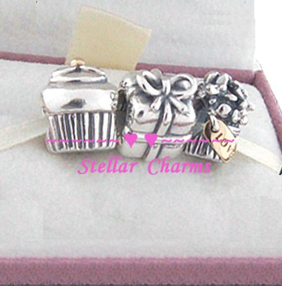 925 Sterling Silver HAPPY BIRTHDAY Charms Gift Set
