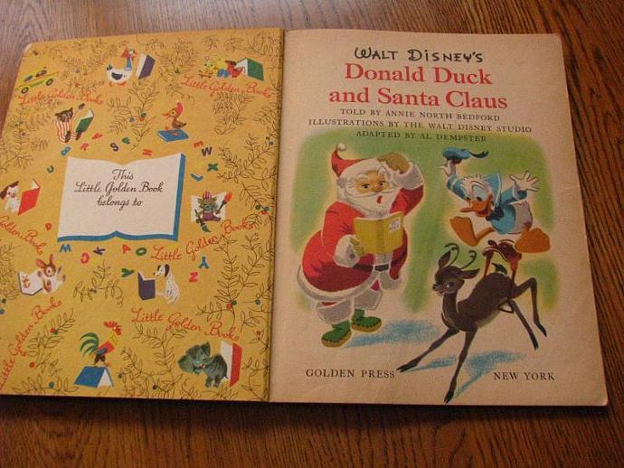 A Little Golden Book- Walt Disneys- Donald Duck and Santa Claus