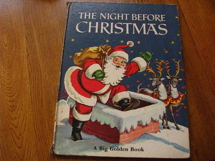 the night before christmas a big golden book cover only perfect for your