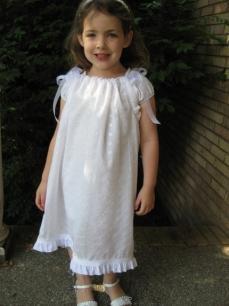 Beautifil White Pillowcase Dress Size 4/5/6