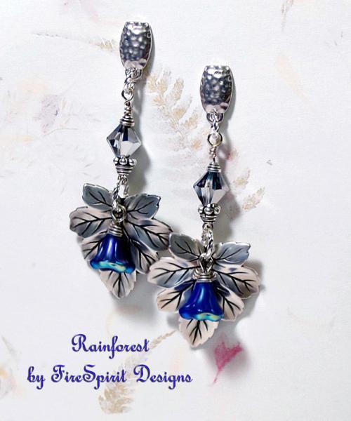 Rainforest- artisan ooak earrings