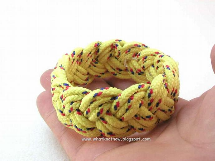 bright yellow rope bracelet 3096