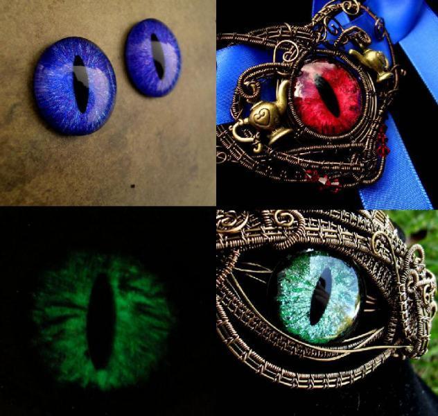 CUSTOM Just For You - 26mm Single Loose Eye - Evil Eye - Dragon Eye - Third Eye