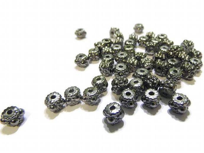 Spacer Beads Gunmetal