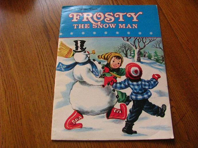 1950  Golden Book- FROSTY The Snowman