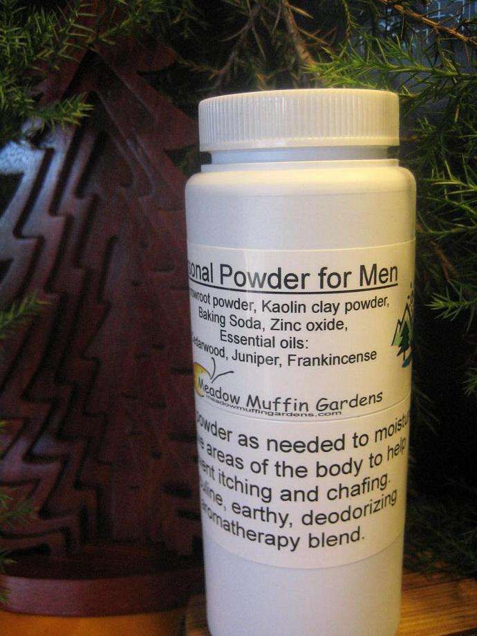 Mens Body Powder, Private Parts, Feet, Sweat, Moisture, Chafing, Aromatherapy