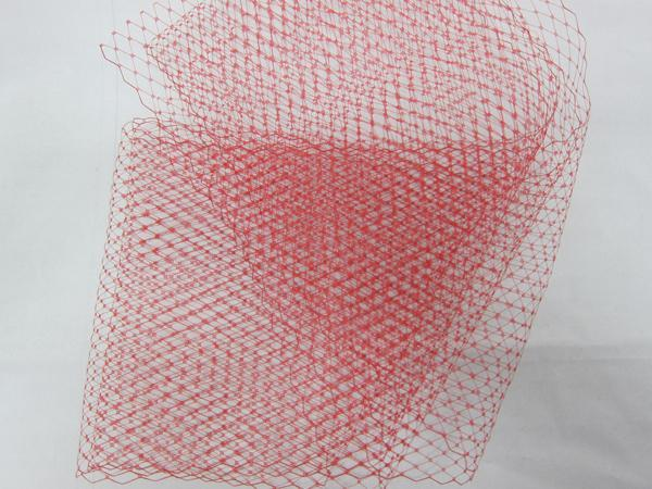 Tulle - Millinery Netting - 1/2yd Red