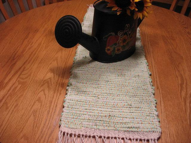 Recycled Handwoven Rag Table Runner