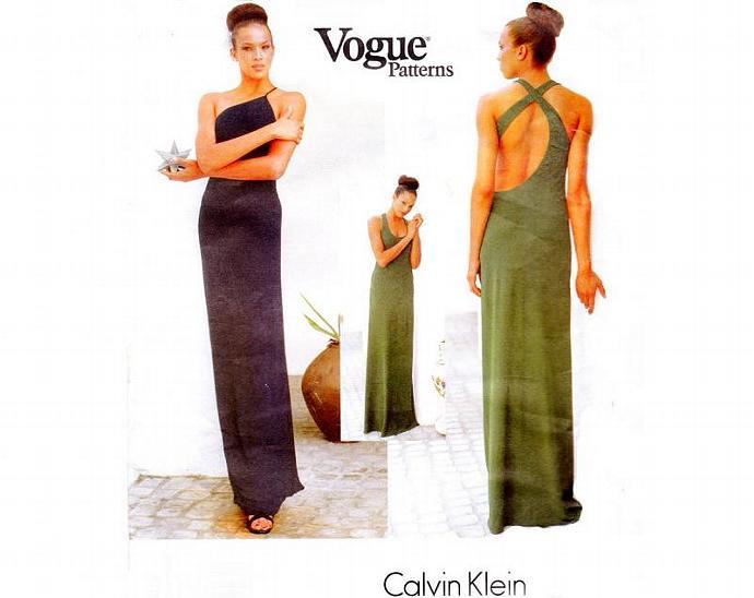 Calvin Klein Dress Vogue American   TheVintageDesignShop