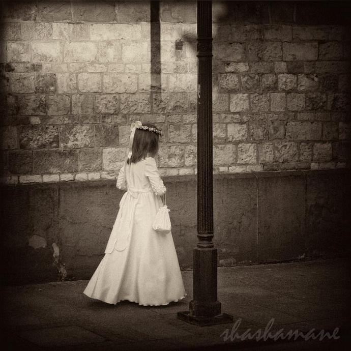 "She moves among the shadows 5 x 5"" fine art photography print"