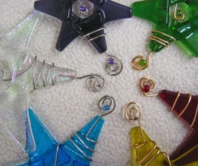 Teacher Gift / Handmade Fused Glass Star / Medium Purple Ornament / Suncatcher /