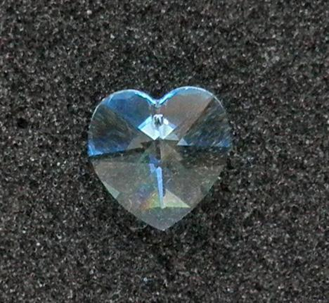 Aquamarine Swarovski 18 mm. Article 6202 heart pendant bead SW37