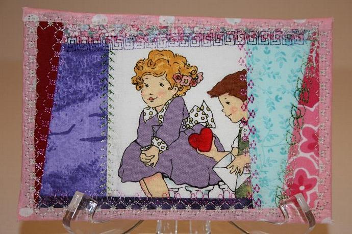 Fabric Post Card
