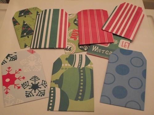 10ct Handmade assorted designs Gift card Envelopes
