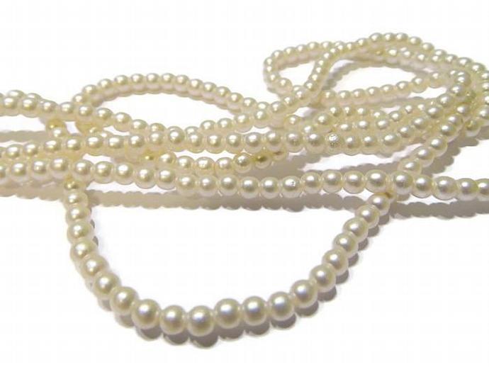 36 inches 4mm faux pearl beads
