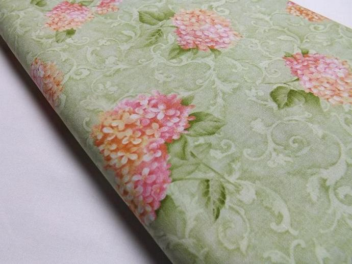 Classic Garden, Cynthia Coulter, Hydrangeas, Fabric, Quilting, Sewing, Flowers