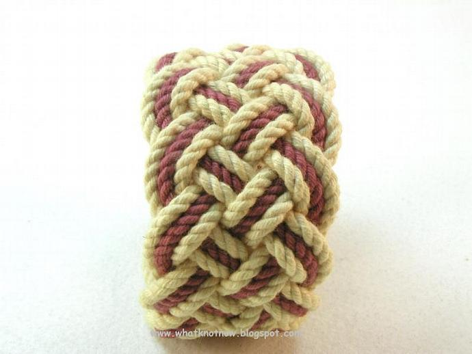 sand and rust nautical knot rope bracelet 3152