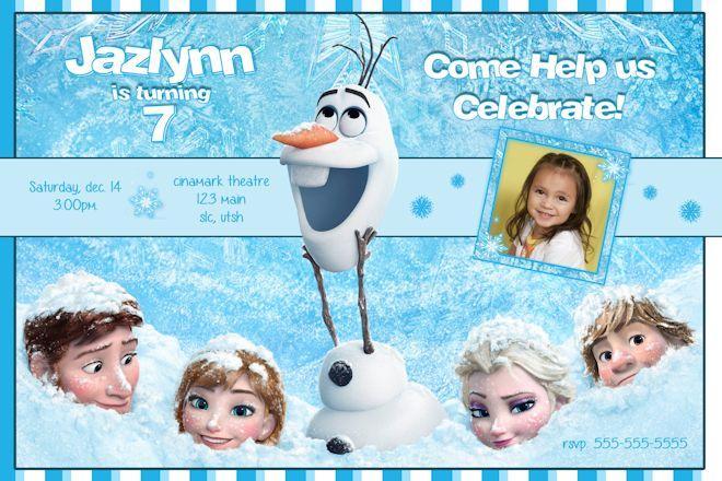 Disney S Frozen Birthday Invitation Frozen By Ekwebdesigns On