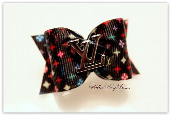 Multi-Color Print Bow with Matching Flags