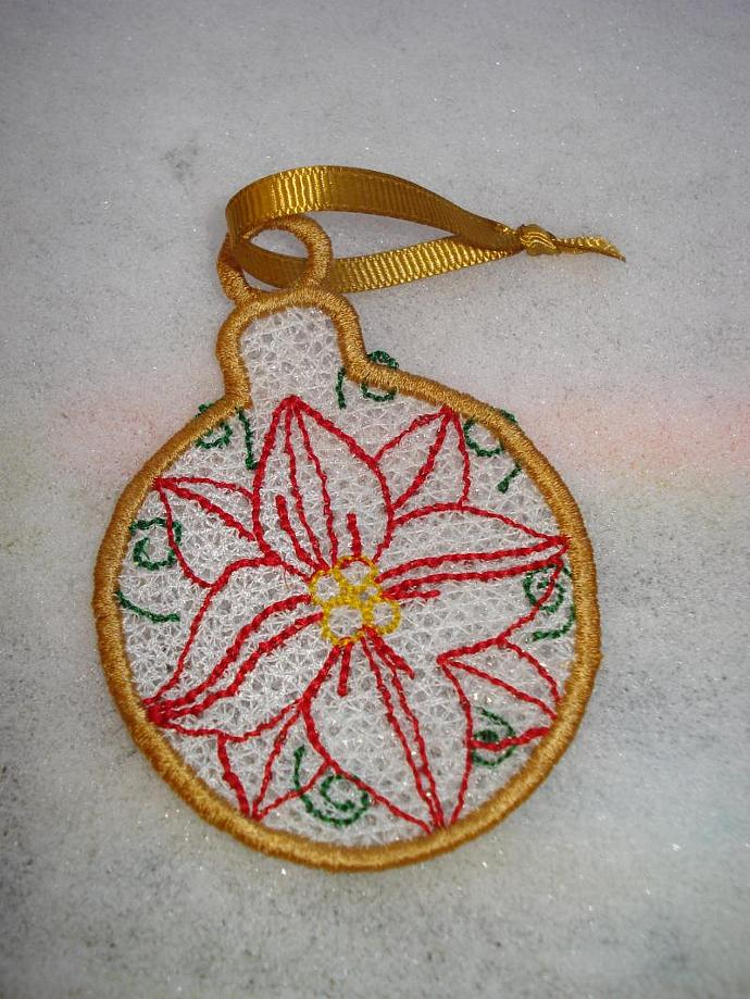 Poinesttia Free Standing Lace (FSL) Ornament
