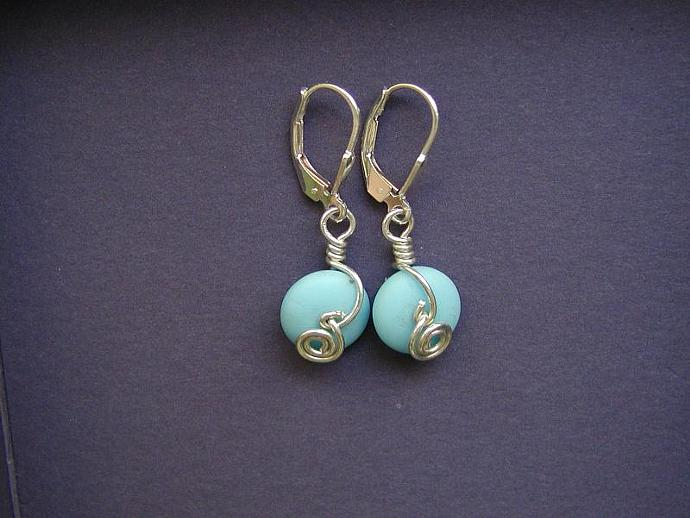 Handmade silver and vintage bead earrings