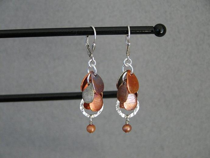Handmade Oxidized Copper earrings