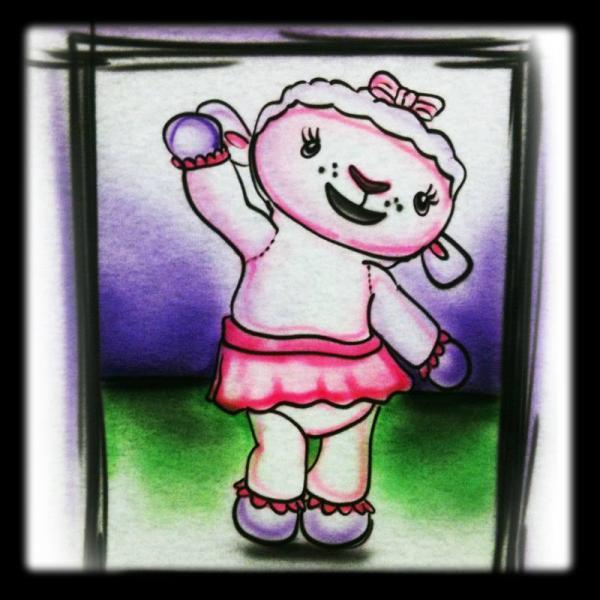 Disney Inspired Doc Mcstuffins Lamb  Airbrushed Tshirt