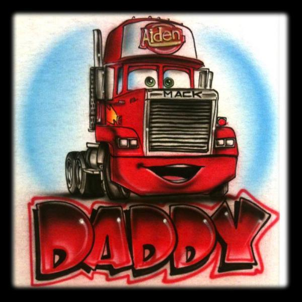 Disney Inspired Mack from Cars2 Airbrushed Tshirt